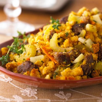 Sausage and Corn Bread Stuffing