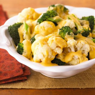 Creamy Cheesy Broccoli and Cauliflower