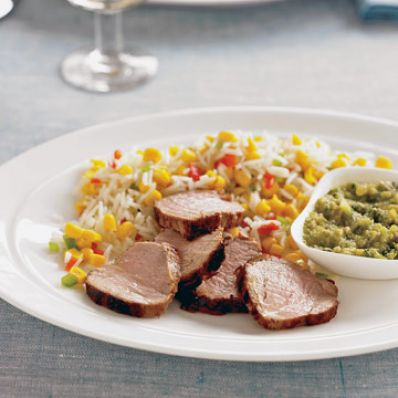 pork tenderloin &  green mole sauce