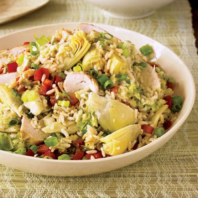 Rice, Chicken and Artichoke Salad