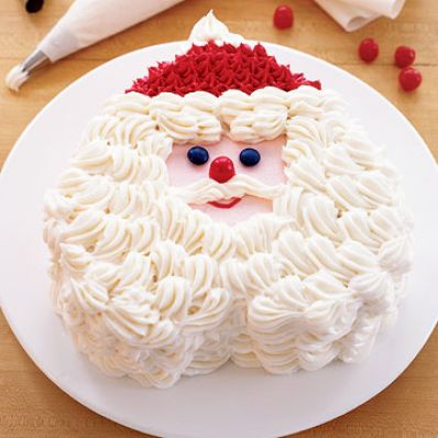 Mint-Chocolate Santa Claus Cake