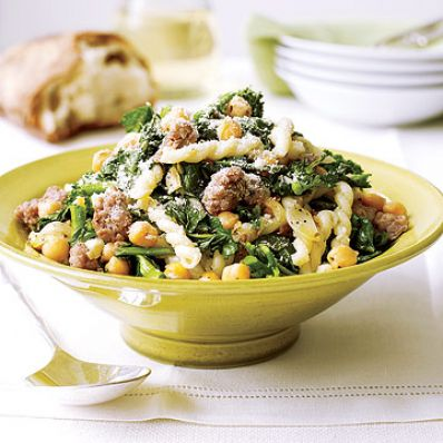 Broccoli Rabe, Chickpeas and Sausage