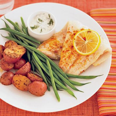 Catfish & Lemon-Dill Sauce