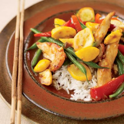 Sesame Ginger Chicken and Vegetable Stir-Fry