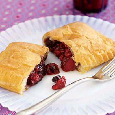 Chocolate-Raspberry Turnovers
