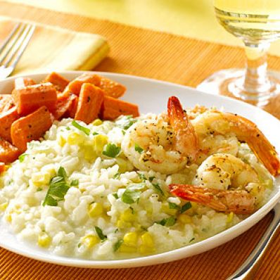 Corn and Shrimp Risotto