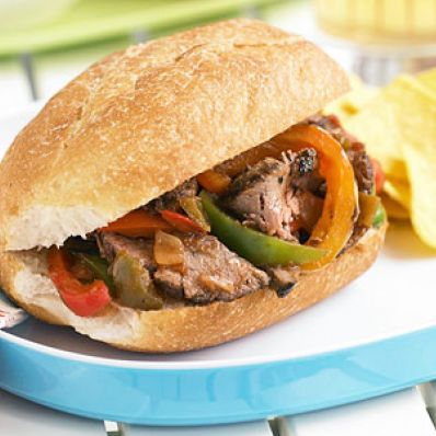Steak and Pepper Hoagies
