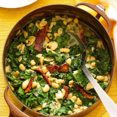 White Bean Stew & Greens