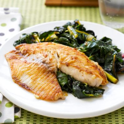 Gingered Tilapia & Swiss Chard