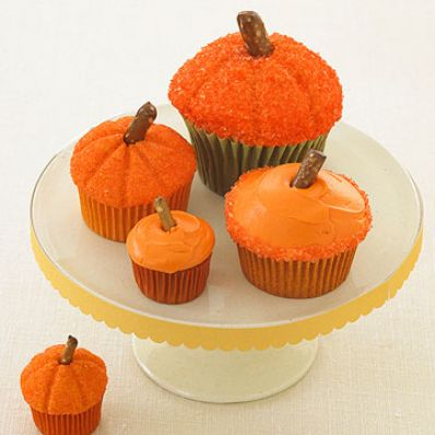 Frosted Pumpkin Cupcakes
