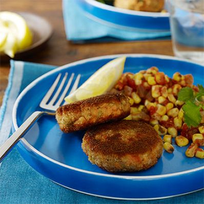 Salmon Cakes with Corn Salsa