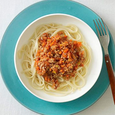 Sausage Bolognese with Linguine