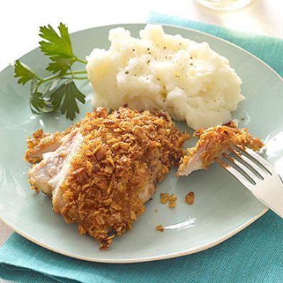Buttermilk Fried Chicken with Sour Cream Mashed Potatoes