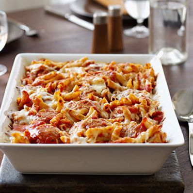 Baked Penne and Turkey Meatballs