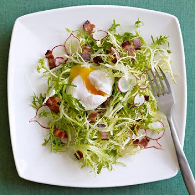 Frisee with Bacon & Poached Egg