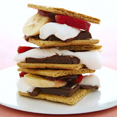 Strawberry Banana S'mores