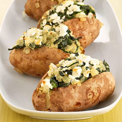 Baked Potatoes Florentine