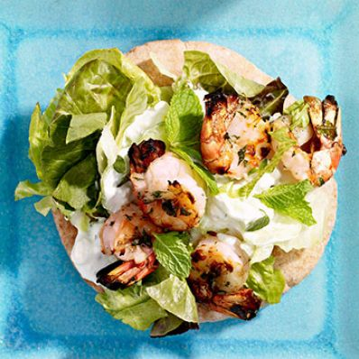 Grilled Shrimp Pitas