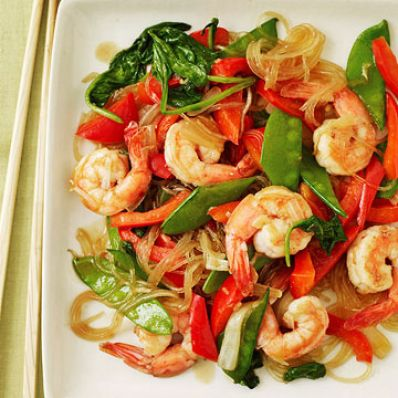 Sweet & Spicy Shrimp Stir-Fry