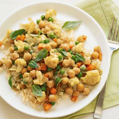 Slow-Cooker Curried Chickpeas with Couscous