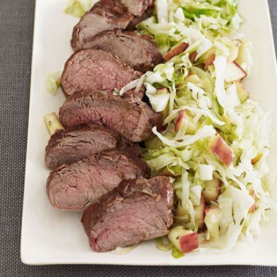 Pork Tenderloin with Warm Apple Slaw