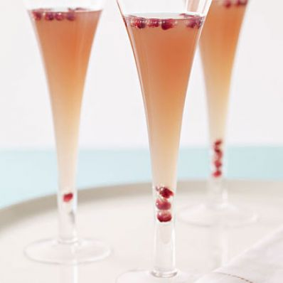 Pear, Pomegranate & Prosecco Cocktail