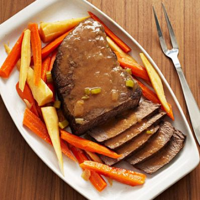 Slow-Cooker Pot Roast with Root Vegetables