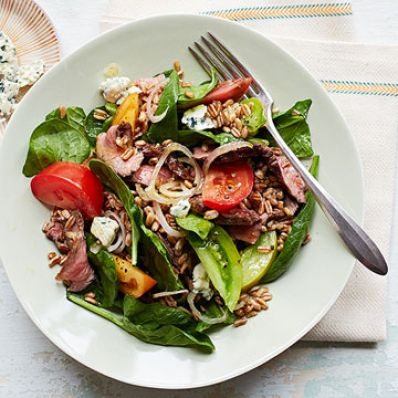 Farro Steak Salad