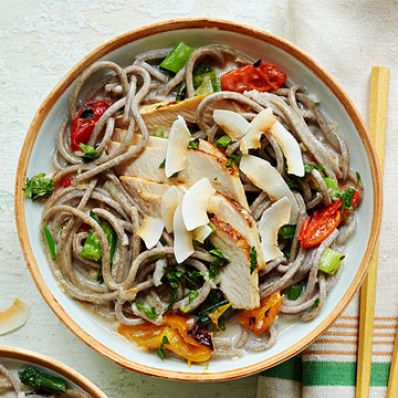 Coconut Chicken Soba Noodles
