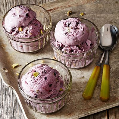 Blueberry-Pistachio Ice Cream