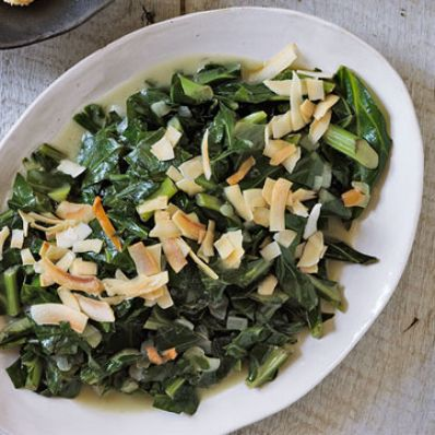 Jamaican Coconut Collard Greens