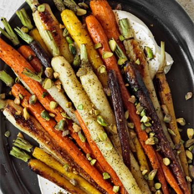 Za'atar-Roasted Carrots with Yogurt