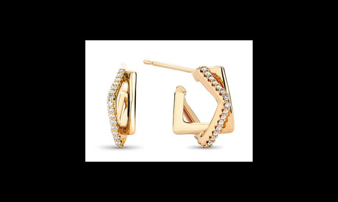 Interlocking Diamond Square Hoops
