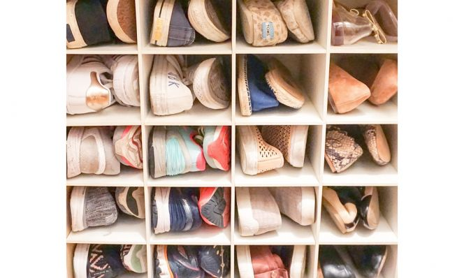 Dori's Master Closet AFTER shoes