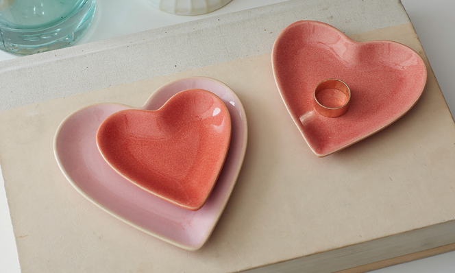 Nesting Heart Trinket Dishes