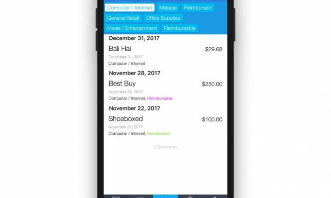 shoeboxed iphone x taxes