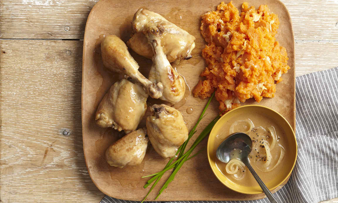 mashed sweet potatoes with chicken