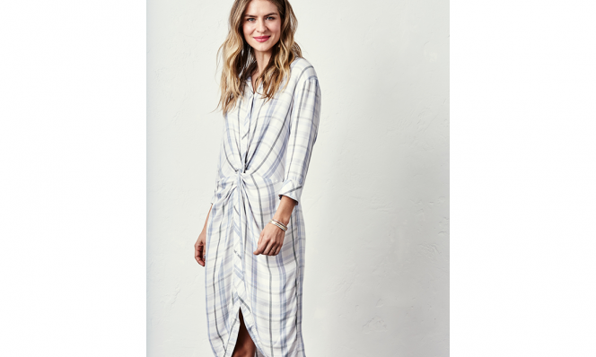 textured waves and shirtdress