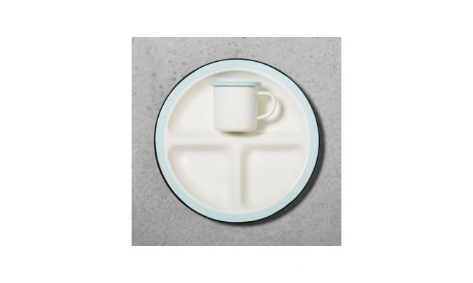 Enamel Kids Divided Plate & Cup by Hearth and Hand with Magnolia