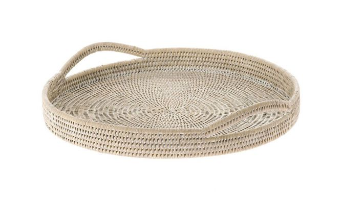 Mcentire Handwoven Round Serving Tray
