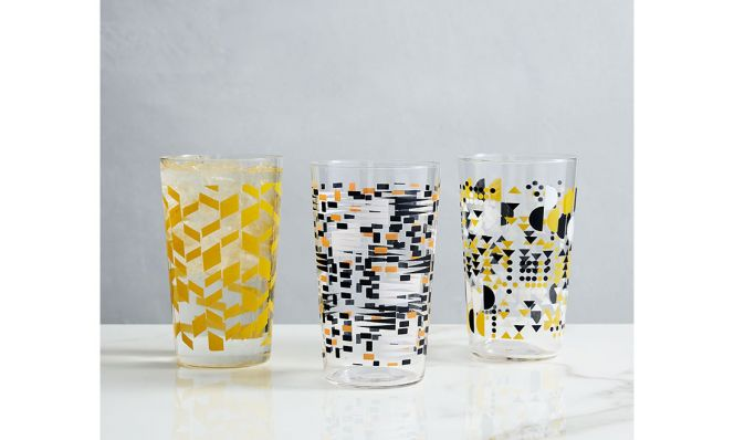 Mid-Century Patterned Glassware