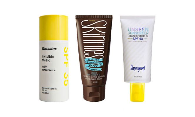 sunscreen products clear