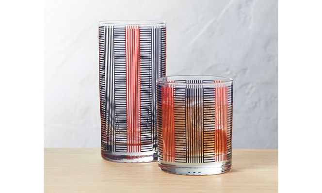 Stripe Pool Party Barware