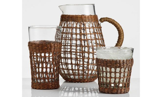 Textured Acrylic Barware Collection