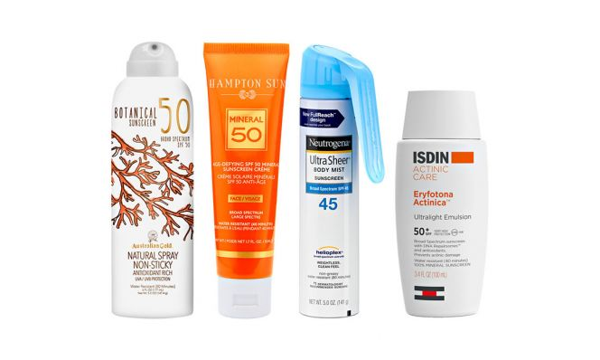 sunscreen products while beach bound
