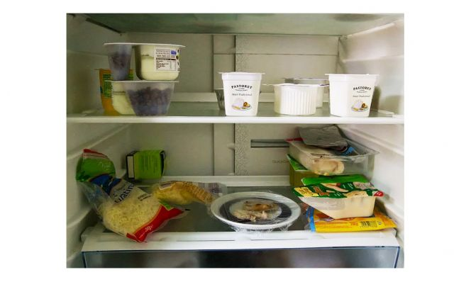 dairy in fridge