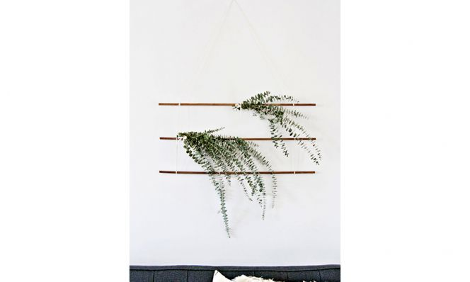 euclayptus diy wall hanging