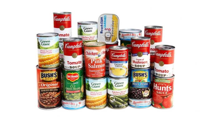 canned foods for disaster preparedness