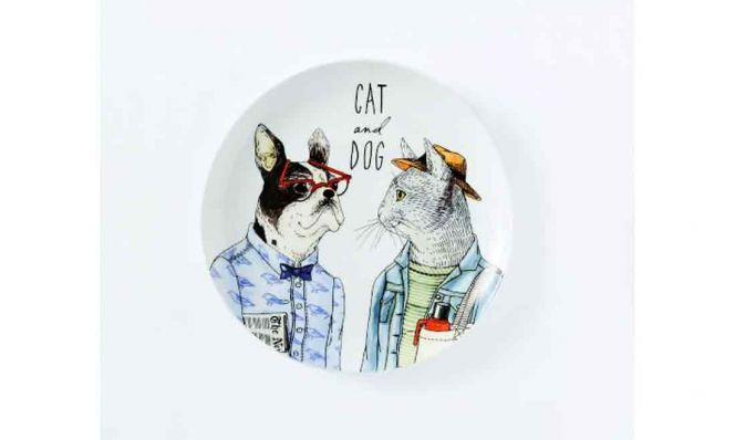 Dapper Animal Salad Plate