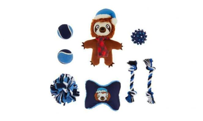 Holiday Sloth Dog Toys